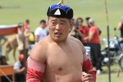 Mongolian Wrestler Royalty Free Stock Image