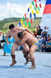 Mongolian wrestlers Royalty Free Stock Photography