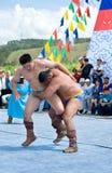 Mongolian wrestlers Royalty Free Stock Photography