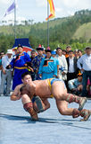 Mongolian wrestlers Royalty Free Stock Photos