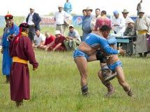 Mongolian Wrestling Match Stock Image