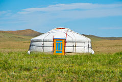 Mongolian yurt Stock Photo
