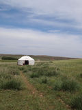 Mongolian yurt Royalty Free Stock Photography