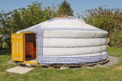 Mongolian yurt. Photo of a traditional mongolian yurt Royalty Free Stock Image