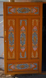 Mongolian Yurt Door Stock Image