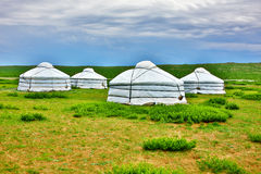 Mongolian Yurt, Ger Camp Royalty Free Stock Image