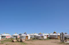 Mongolian yurt. In inner mongolia china Royalty Free Stock Photos