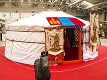 Mongolian Yurt no festival do Oriente em Roma Itália imagem de stock
