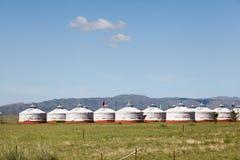 Mongolian yurt in prairie Stock Photos