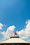 Mongolian Yurts and the blue sky Stock Images