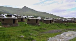 Mongolian Yurts camp near  Ullanbaator Stock Photography