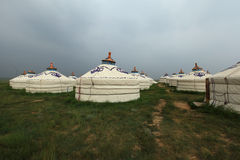 Mongolian Yurts Stock Photos