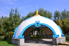 Mongolian Yurts Stock Photo