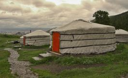 Mongolian Yurts Royalty Free Stock Photography