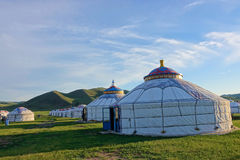 Mongolian yurts Royalty Free Stock Images