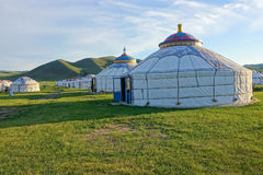 Mongolian yurts Stock Photography