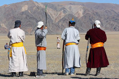 The  mongolians archers Stock Image
