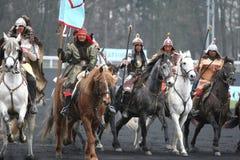 Mongolians, Prix d'Amérique, Vincennes, 2007 Royalty Free Stock Images