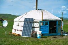 mongolianyurt arkivfoton