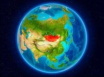 Mongoliet på jord Fotografering för Bildbyråer