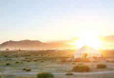 Mongolin yurt Royalty Free Stock Photo