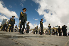 Mongolische nationale Blaskapelle Lizenzfreies Stockbild