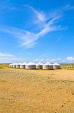 Mongolische yurts Stockbild