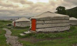 Mongolische yurts Lizenzfreie Stockfotografie