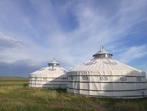 Mongolische yurts Lizenzfreies Stockbild
