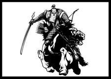 Mongolischer Krieger stock abbildung