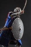 Mongolischer Krieger in der Rüstung Lizenzfreie Stockfotografie