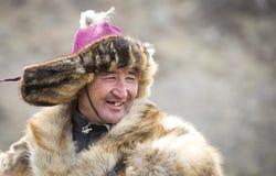 Mongolischer Nomadeadlerjäger Lizenzfreies Stockfoto