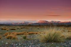 Mongolischer Sonnenuntergang Stockfotografie