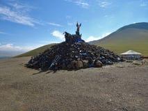 Mongolisches cultur in Nationalpark Gorkhi Terelj Stockbilder