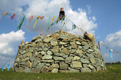 Mongolisches Ovoo Stockfotos