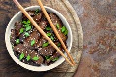 Mongolisches Rindfleisch Lizenzfreie Stockbilder