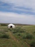 Mongolisches yurt Lizenzfreie Stockfotografie