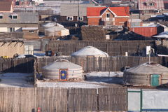 Mongolisches yurt in Ulan-Bator Stockbild