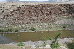Mongolisk flod Arkivfoton