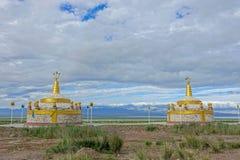 Mongolisk Obo royaltyfri fotografi
