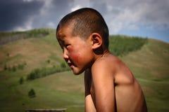 Mongolisk pojke Arkivfoto