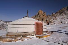 Mongolisk yurt Royaltyfria Bilder