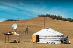 Mongolisk yurt Arkivbild
