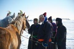 Mongoliska brudgummar Royaltyfri Fotografi