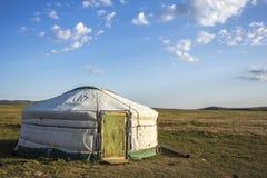 Mongoliska Ger Steppe Royaltyfria Bilder