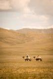 Mongoliska nomader Fotografering för Bildbyråer
