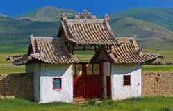 Mongoliskt hus arkivfoto