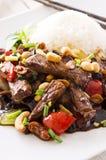 Mongoliskt nötkött Arkivbild