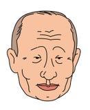 Mongoliskt tecken, asiatiskt vektor Head illustration Plan stil Logo President Putin Karikatyr av en politiker vektor illustrationer