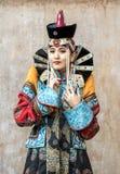 Mongolska kobieta w tradycyjnym stroju fotografia royalty free